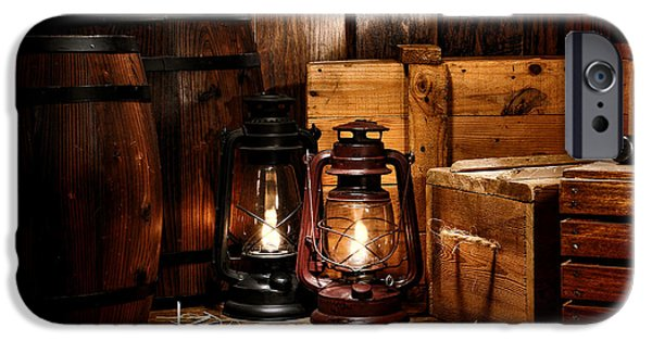 Oil Lamp Photographs iPhone Cases - The Old Warehouse iPhone Case by Olivier Le Queinec