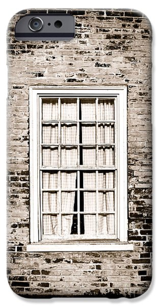 Historic Home iPhone Cases - The Old Window iPhone Case by Olivier Le Queinec