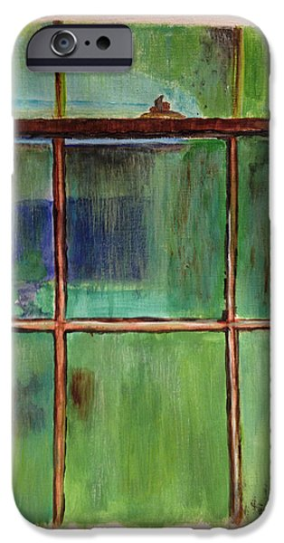 Rainy Day iPhone Cases - The Old Window On A Rainy Day iPhone Case by Patricia Novack
