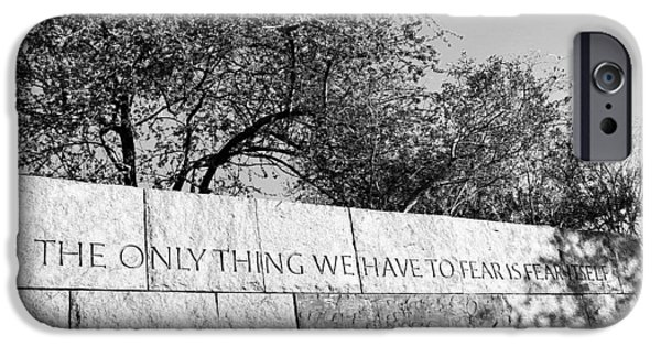 Americans Elect iPhone Cases - The Only Thing We Have to Fear is Fear Itself iPhone Case by Allen Beatty
