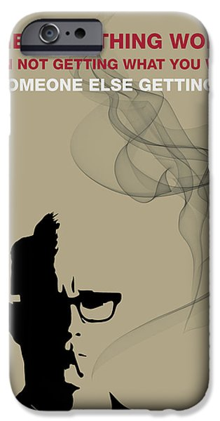 Advice iPhone Cases - The Only Thing Worse by Roger Sterling iPhone Case by Florian Rodarte