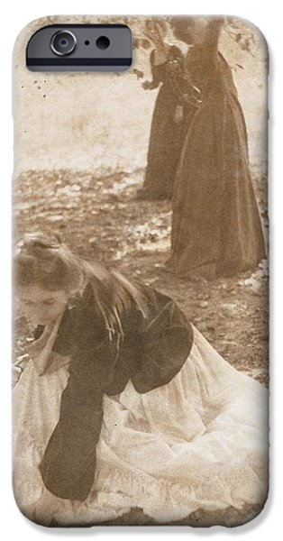 Early iPhone Cases - The Orchard, 1902 Vintage Platinum Print iPhone Case by Clarence Henry White
