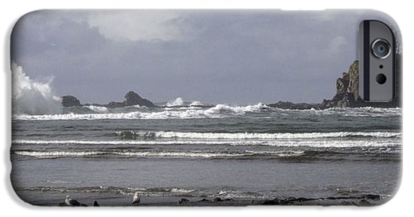 Cora Wandel iPhone Cases - The Oregon Coast After An Afternoon Rain iPhone Case by Cora Wandel