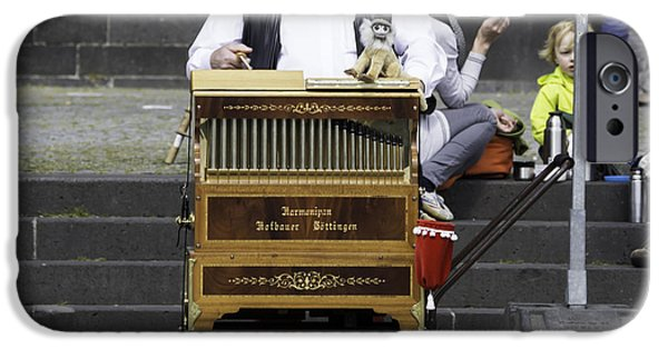 Historic Site iPhone Cases - The Organ Grinder Squared iPhone Case by Teresa Mucha