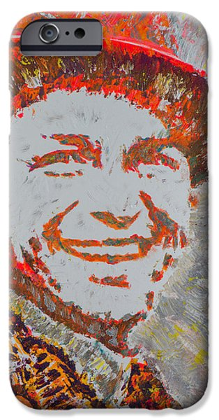 Frank Sinatra Paintings iPhone Cases - The Original Hipster iPhone Case by Gianna Veno