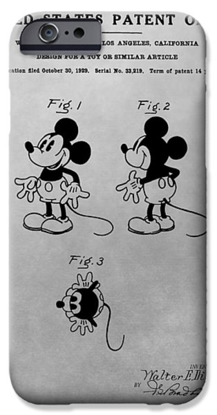 Toy Store iPhone Cases - The Original Mickey Mouse Patent Design iPhone Case by Dan Sproul