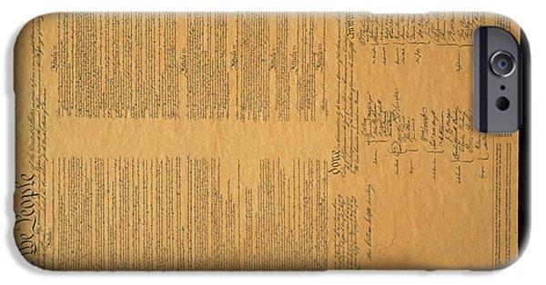 Constitution iPhone Cases - The Original United States Constitution iPhone Case by Panoramic Images