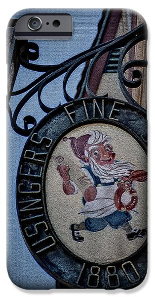 Sign iPhone Cases - The Original Usingers Sausage iPhone Case by Deborah Klubertanz