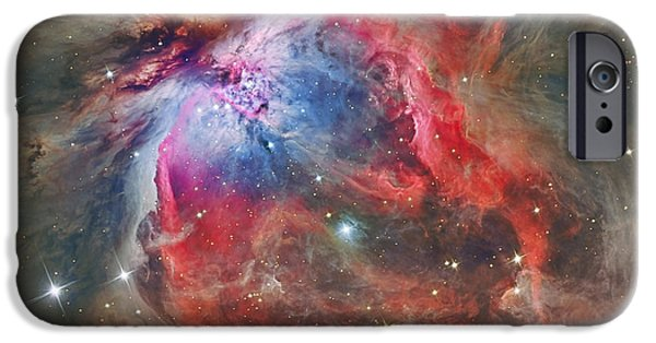 Constellations iPhone Cases - The Orion Nebula iPhone Case by Reinhold Wittich
