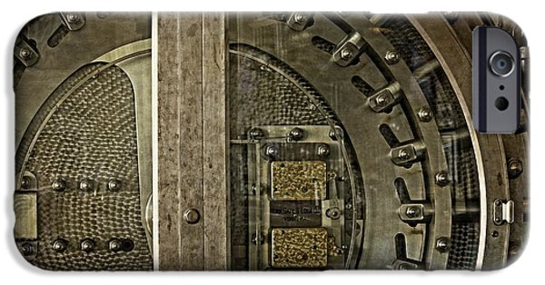 Wine Vault iPhone Cases - The Other Side Of The Vault Door iPhone Case by Image Takers Photography LLC - Carol Haddon