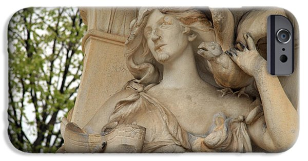 Cora Wandel iPhone Cases - The Other Woman Of The Fountain iPhone Case by Cora Wandel
