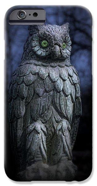 Creepy iPhone Cases - The Owl iPhone Case by Tom Mc Nemar