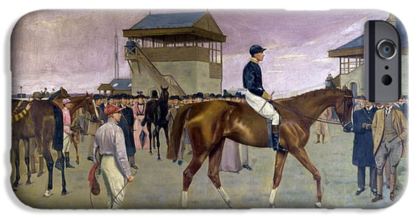Horse Race iPhone Cases - The Owner s Enclosure Newmarket iPhone Case by Isaac Cullen