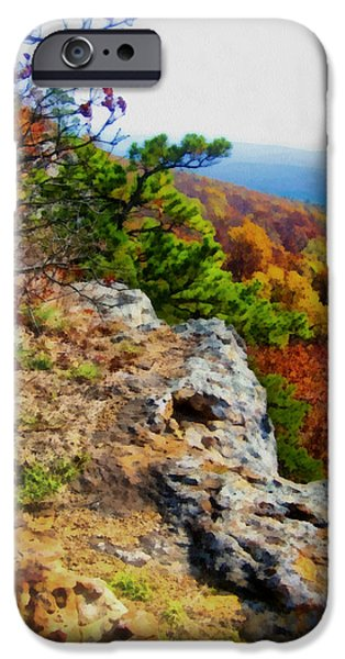 Arkansas iPhone Cases - The Ozarks in Autumn iPhone Case by Ann Powell
