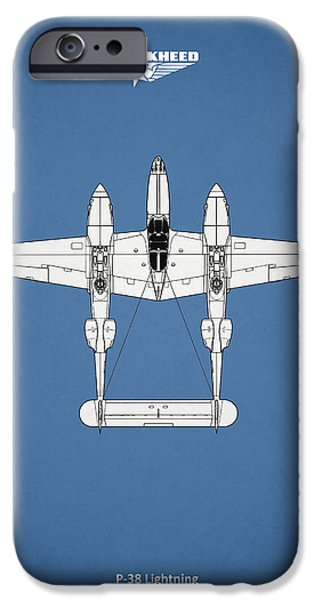 Flight iPhone Cases - The P-38 Lightning iPhone Case by Mark Rogan