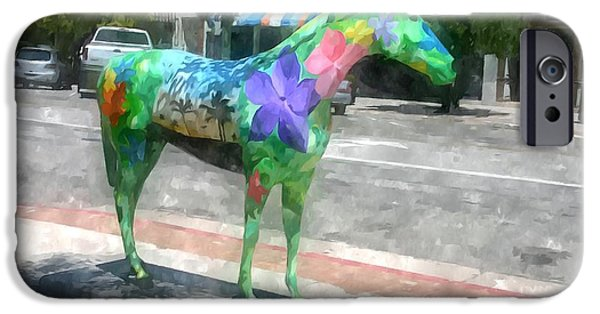 The Horse iPhone Cases - The Painted Horses of Ogden iPhone Case by Lanjee Chee
