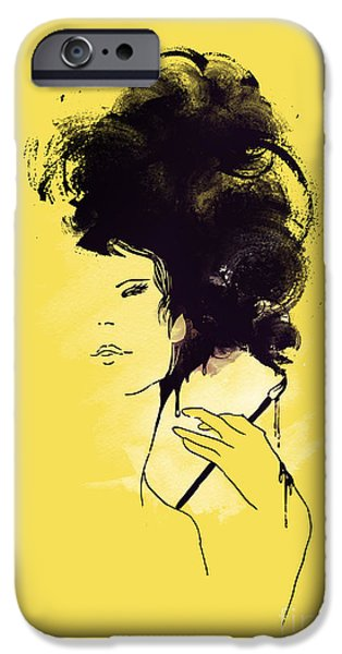 Painter Digital Art iPhone Cases - The painter iPhone Case by Budi Satria Kwan