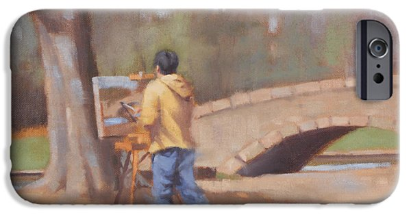 Charlotte iPhone Cases - The Painter iPhone Case by Todd Baxter
