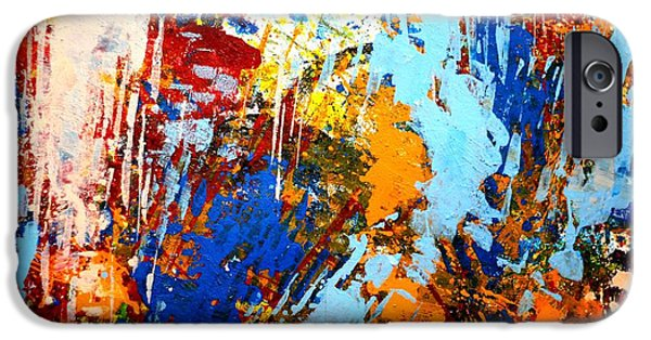 Fine Art Abstract iPhone Cases - The painting has a life of its own. I try to let it come through. Jackson Pollock   iPhone Case by John  Nolan