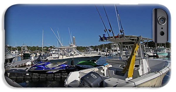 Harbor Sesuit Harbor iPhone Cases - The Pala in Sesuit Harbor on Cape Cod iPhone Case by Juergen Roth