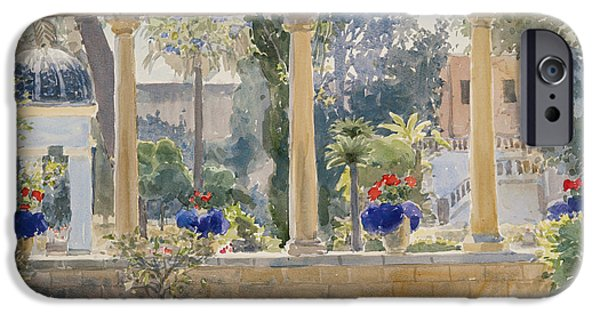 Maltese iPhone Cases - The Palace Garden, 2012 Wc On Paper iPhone Case by Lucy Willis