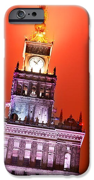 The Palace of Culture and Science Warsaw Poland  iPhone Case by Michal Bednarek