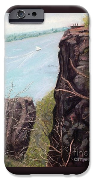Hudson River Pastels iPhone Cases - The Palisades in Early Spring iPhone Case by Laura Sullivan