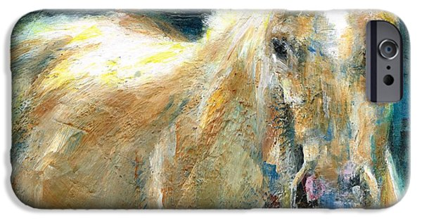 Equine Art iPhone Cases - The Palomino iPhone Case by Frances Marino