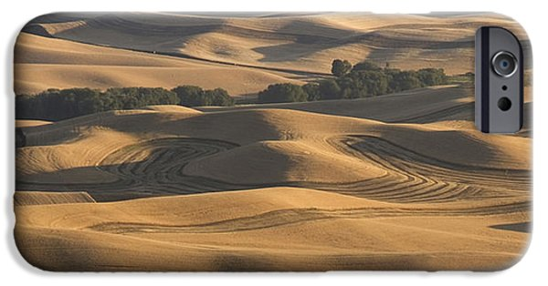 Contour Plowing iPhone Cases - Harvest Hills iPhone Case by Latah Trail Foundation