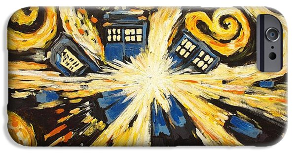 Angel Blues iPhone Cases - The Pandorica Opens iPhone Case by Sheep McTavish
