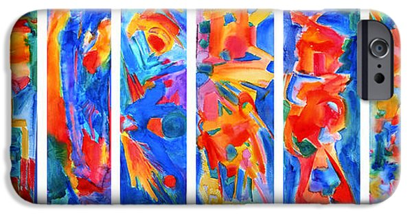 Abstract Expressionism iPhone Cases - The Panels of Man iPhone Case by  Tolere