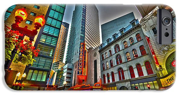 Boston Ma Digital iPhone Cases - The Paramount Center and Opera House in Boston iPhone Case by Toby McGuire