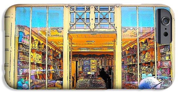 Delicatessen iPhone Cases - The Paris Gourmet Shop iPhone Case by Jan Matson