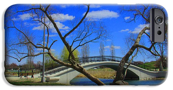 States iPhone Cases - The Park Bridge iPhone Case by Michael Rucker