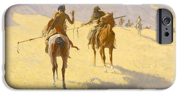Frederic Remington iPhone Cases - The Parley iPhone Case by Frederic Remington