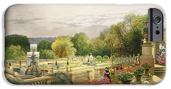 Garden Art iPhone Cases - The Parterre Harewood House near Leeds iPhone Case by E Adveno Brooke
