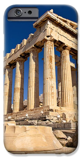 Greek Icon iPhone Cases - The Parthenon iPhone Case by Brian Jannsen