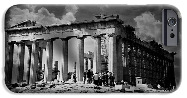 Athens Ruins iPhone Cases - The Parthenon iPhone Case by Diana Angstadt