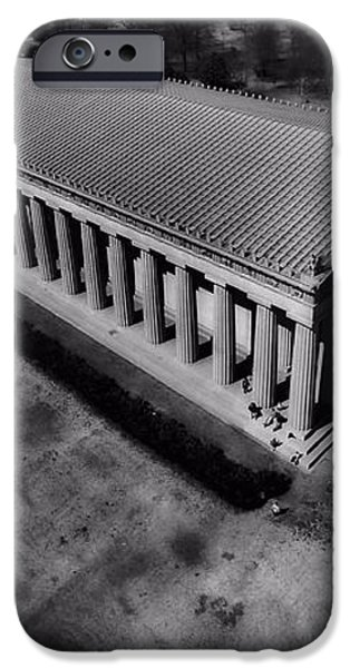The Parthenon In Black And White iPhone Case by Dan Sproul