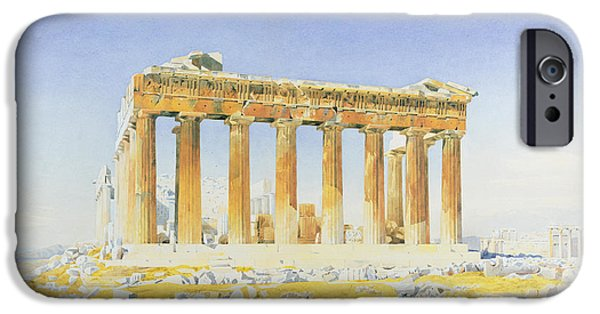 Ancient Paintings iPhone Cases - The Parthenon iPhone Case by Thomas Hartley Cromek