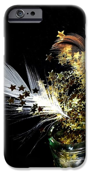 Night Angel iPhone Cases - The passage of an angel iPhone Case by Donatella Muggianu