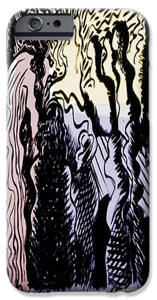 Life Of Christ Drawings iPhone Cases - The Passion -1 iPhone Case by Guy Ciarcia