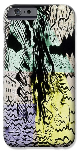 Life Of Christ Drawings iPhone Cases - The Passion 3 iPhone Case by Guy Ciarcia