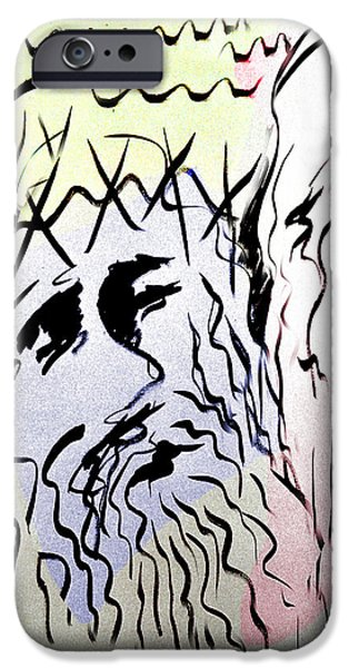 Life Of Christ Drawings iPhone Cases - The Passion 6 iPhone Case by Guy Ciarcia