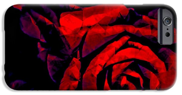 Nature Abstracts iPhone Cases - The Passion of the Rose iPhone Case by Susan Maxwell Schmidt