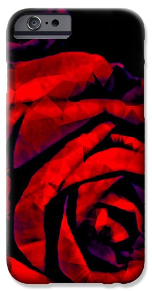Surrealism Digital iPhone Cases - The Passion of the Rose iPhone Case by Susan Maxwell Schmidt