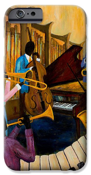 Grand Piano Paintings iPhone Cases - The Pastels iPhone Case by Larry Martin