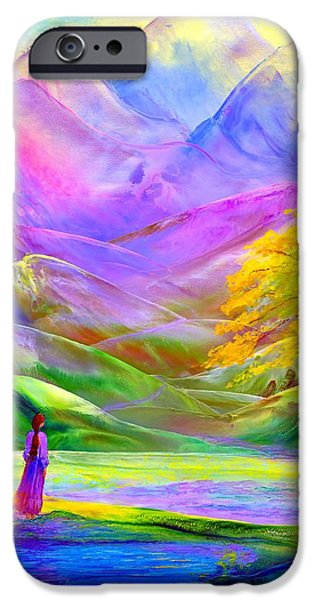 Nature Abstracts iPhone Cases - The Path Beyond iPhone Case by Jane Small