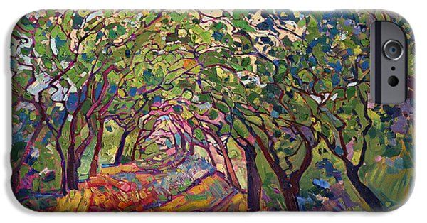 Wild Paintings iPhone Cases - The Path iPhone Case by Erin Hanson