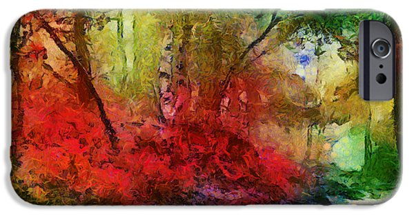 Pathway Mixed Media iPhone Cases - The Path iPhone Case by Jim  Hatch